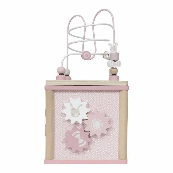 Kocka s aktivitami Little Dutch ružová | Welcomebaby.sk