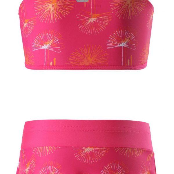 Dievčenské dvojdielne sukňové plavky s volánom Reima caribic ružové   Welcomebaby.sk