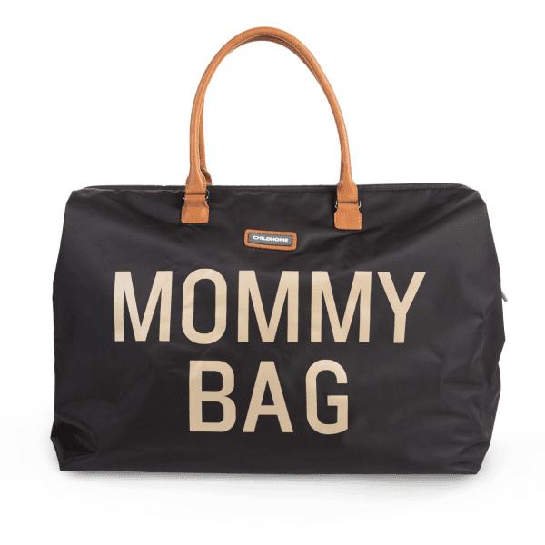 Veľká taška Mommy Bag Childhome Big Black Gold čierna | Welcomebaby.sk