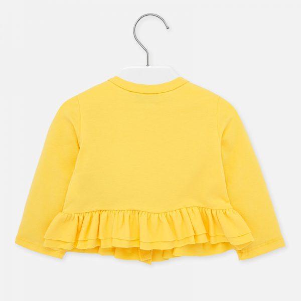 Dievčenská bavlnená bundička s volánom Mayoral amarillo | Welcomebaby.sk