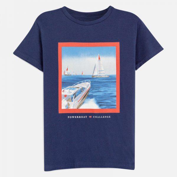 Chlapčenské tričko powerboat Mayoral modré | Welcomebaby.sk
