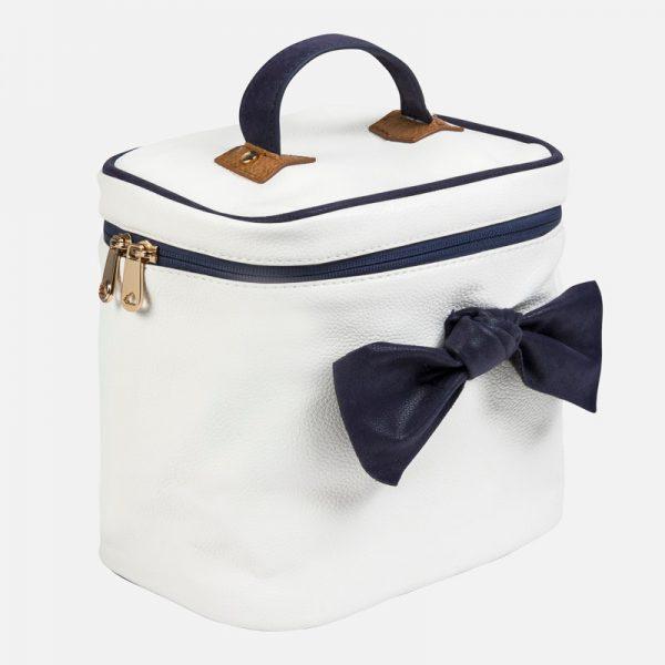 Veľká termo taška s modrou mašľou Mayoral bielomodrá | Welcomebaby.sk