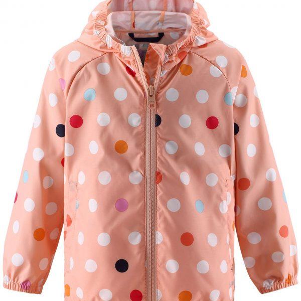 Dievčenská bodkovaná UV bunda odolná voči vetru Reima Vandmand powder | Welcomebaby.sk