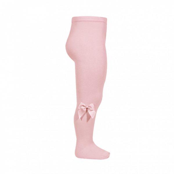 Klasické pančuchy s mašľou na boku Cóndor pale pink | Welcomebaby.sk