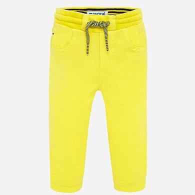 Chlapčenské nohavice na gumu Mayoral žlté | Welcomebaby.sk