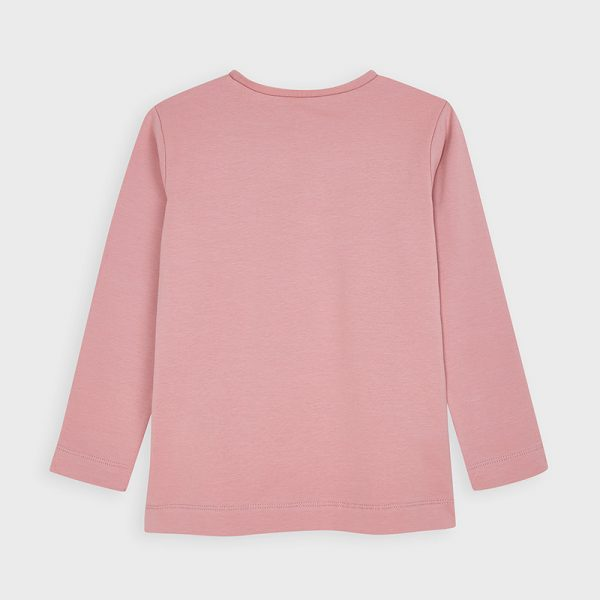 Dievčenské tričko s potlačou dievčatka, srdiečkami a 3D sukňou Mayoral ružové   Welcomebaby.sk
