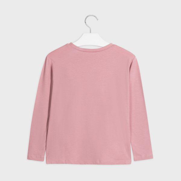 Dievčenské tričko s dlhým rukávom a nápisom Love Mayoral staroružové | Welcomebaby.sk