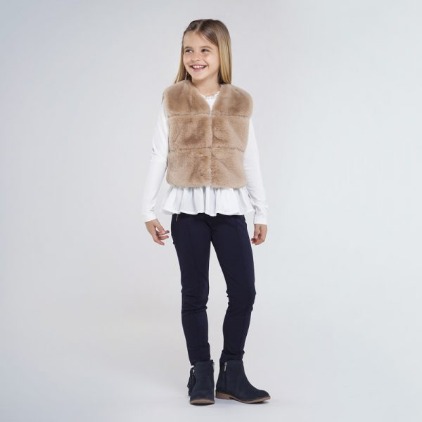 Dievčenské nohavicové legíny Mayoral tmavomodré | Welcomebaby.sk