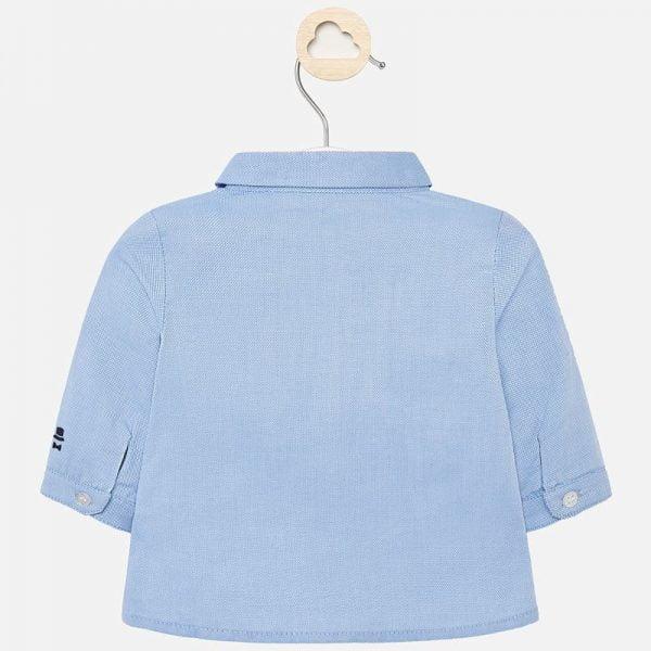 Košeľa s dlhým rukávom a motýlikom newborn Mayoral modrá | Welcomebaby.sk