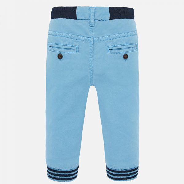 Chlapčenské nohavice s patentom Mayoral modré | Welcomebaby.sk