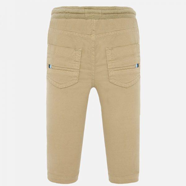 Chlapčenské nohavice na gumu Mayoral hnedé | Welcomebaby.sk