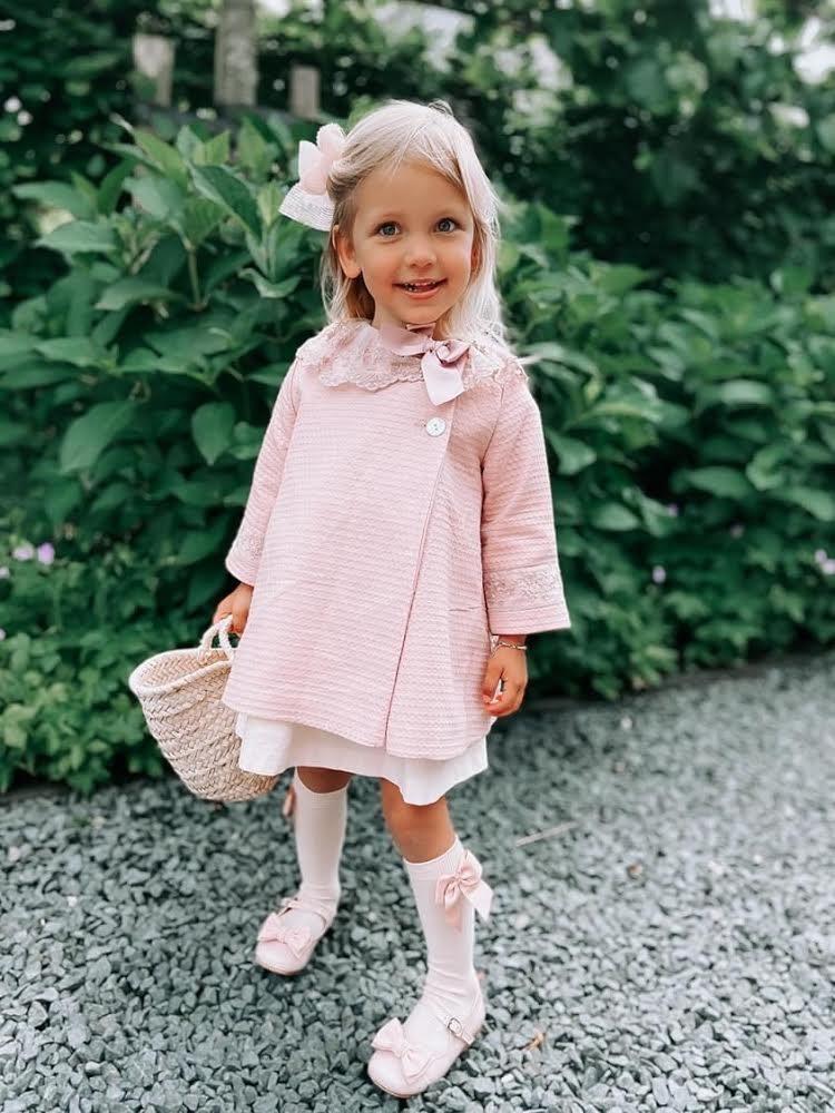 Bavlnené podkolienky s patentom a mašľou na boku Cóndor baby ružová   Welcomebaby.sk