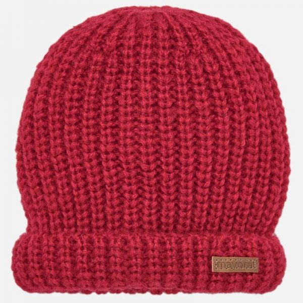 Chlapčenská pletená čiapka Mayoral červená | Welcomebaby.sk