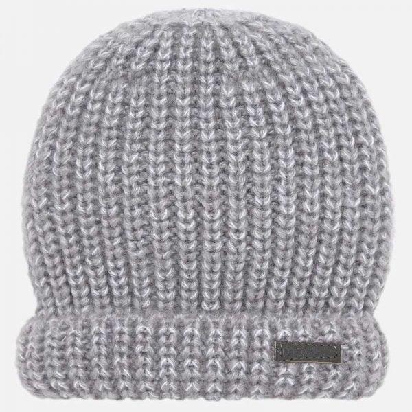 Chlapčenská pletená čiapka Mayoral sivá | Welcomebaby.sk