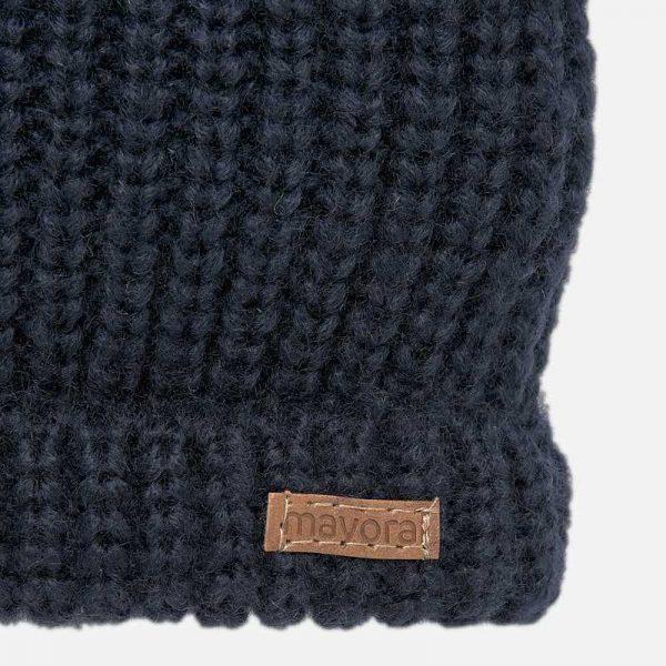 Chlapčenská pletená čiapka Mayoral tmavomodrá | Welcomebaby.sk