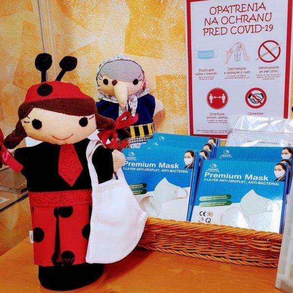 Detské antibakteriálne rúško biele | Welcomebaby.sk