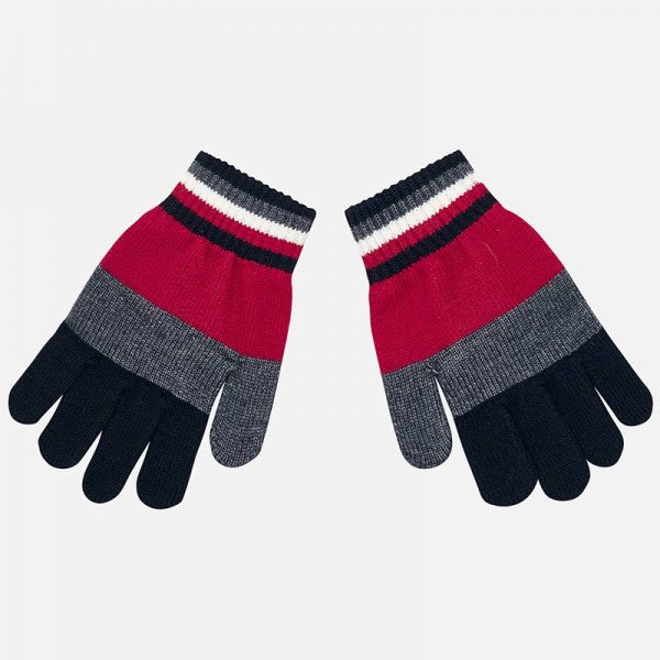 Chlapčenské rukavice Mayoral červené | Welcomebaby.sk