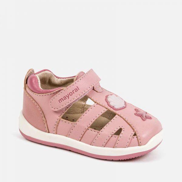 Dievčenské kožené sandále Mayoral ružové | Welcomebaby.sk