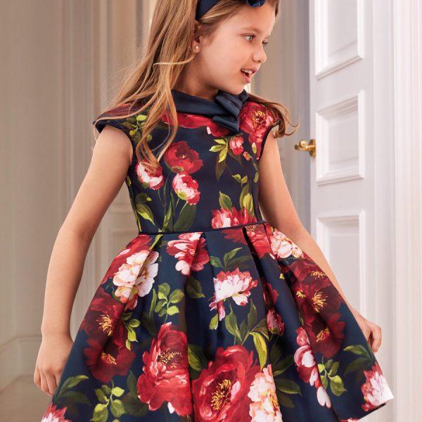 Kvetované šaty Abel & Lula tmavomodré | Welcomebaby.sk