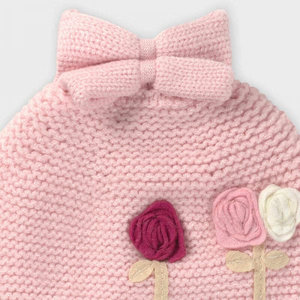 Dievčenský šál, čiapka a rukavice 3set newborn Mayoral ružová | Welcomebaby.sk