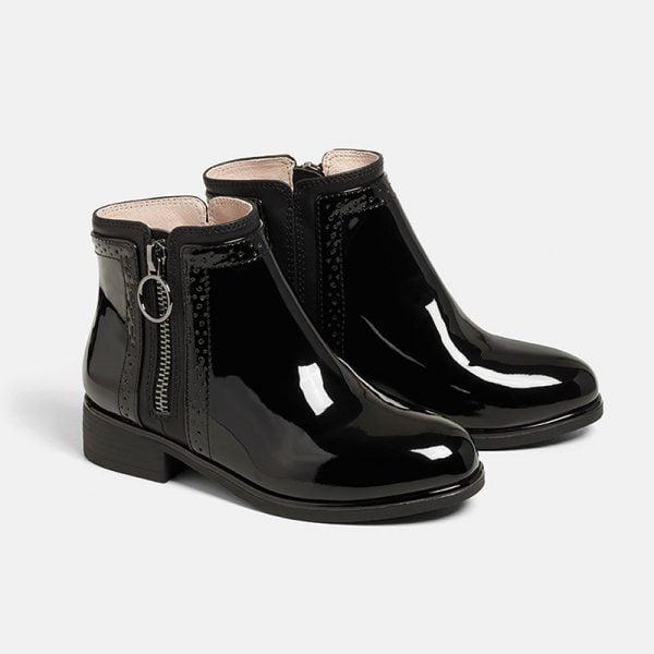 Dievčenské lakované vyššie topánky Mayoral čierne | Welcomebaby.sk