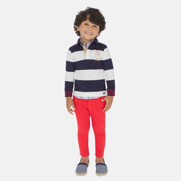 Chlapčenské nohavice chino slim Mayoral červené | Welcomebaby.sk