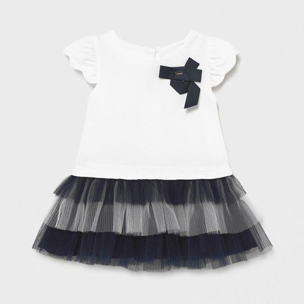 Šaty s tylovou trojitou sukňou Mayoral modré | Welcomebaby.sk