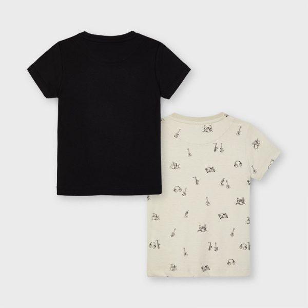 Chlapčenské tričká s krátkym rukávom a hudobným motívom Mayoral 2 pack | Welcomebaby.sk