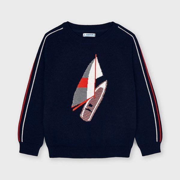 Chlapčenský sveter s motívom surf Mayoral tmavomodrý | Welcomebaby.sk