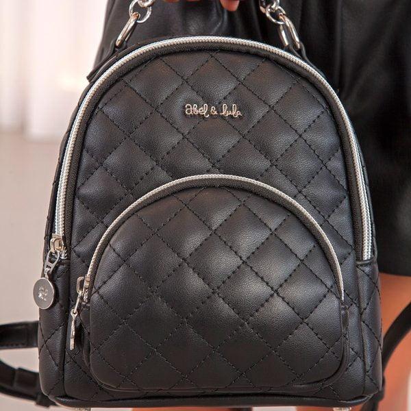 Dievčenský koženkový ruksak Abel & Lula čierny | Welcomebaby.sk