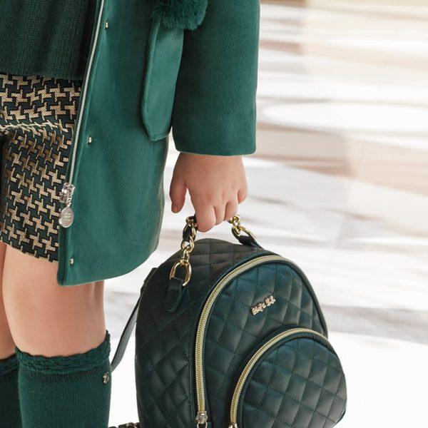 Dievčenský koženkový ruksak Abel & Lula zelený | Welcomebaby.sk