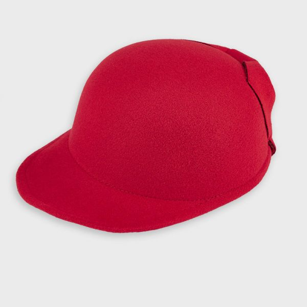 Dievčenský klobúk s veľkou mašľou Mayoral červený | Welcomebaby.sk