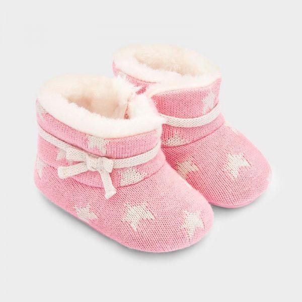 Dievčenské topánky s hviezdičkami pre novorodenca Mayoral newborn ružové | Welcomebaby.sk