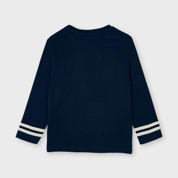 Chlapčenské tričko s dlhým rukávom loďky Mayoral tmavomodré | Welcomebaby.sk