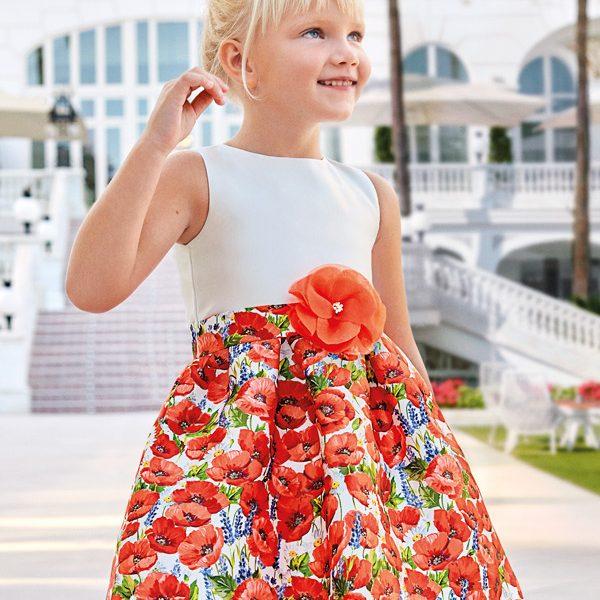 Spoločenské šaty maky Abel & Lula červené | Welcomebaby.sk