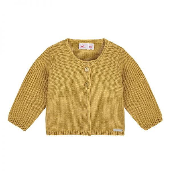 Bavlnený sveter na dva gombíky Cóndor horčicový | Welcomebaby.sk