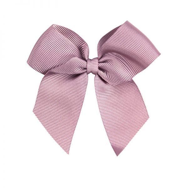 Saténová mašlička do vlasov na klip Cóndor pale pink