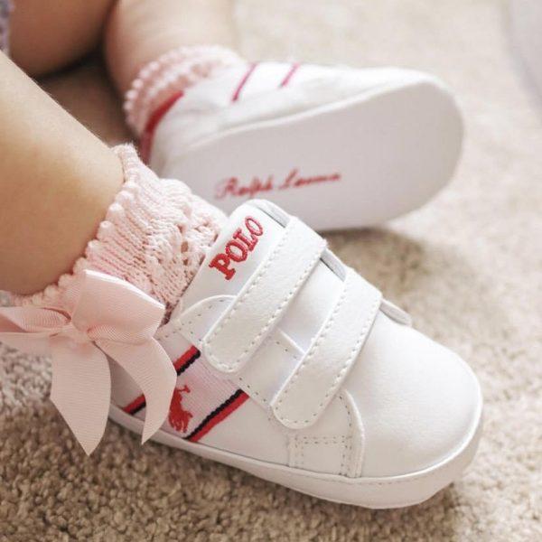 Háčkované ponožky na boku so saténovou mašľou Cóndor baby ruzové | Welcomebaby.sk