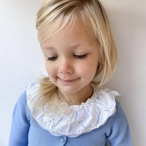Bavlnený sveter na dva gombíky Cóndor francúzska modrá | Welcomebaby.sk