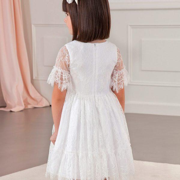 Čipkované sviatočné šaty Abel & Lula biele | Welcomebaby.sk