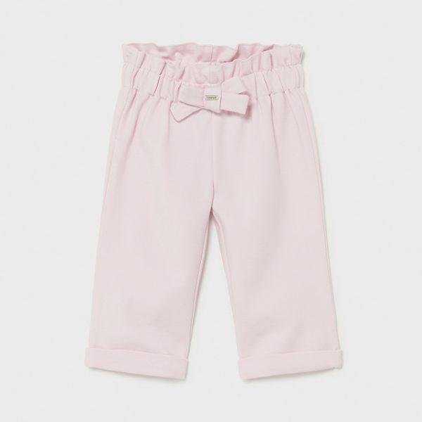 Dievčenské nohavice s vysokým pásom na gumu Mayoral baby ružová   Welcomebaby.sk