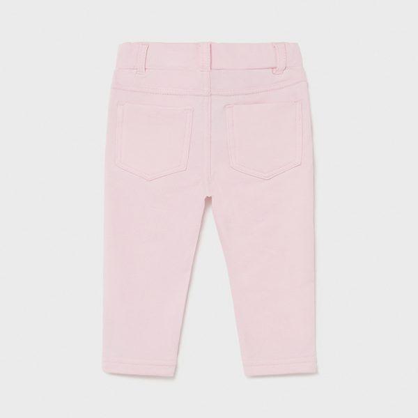 Dievčenské dlhé legínové nohavice Mayoral baby ružová | Welcomebaby.sk