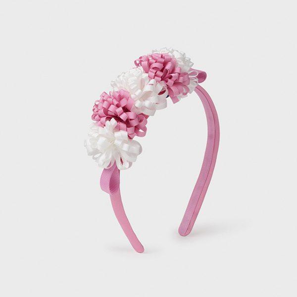 Čelenka s kvetmi baby girl Mayoral ružová | Welcomebaby.sk