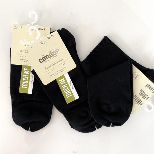 Čierne dámske hladké ponožky s jemnou gumičkou Cóndor čierne | Welcomeababy.sk
