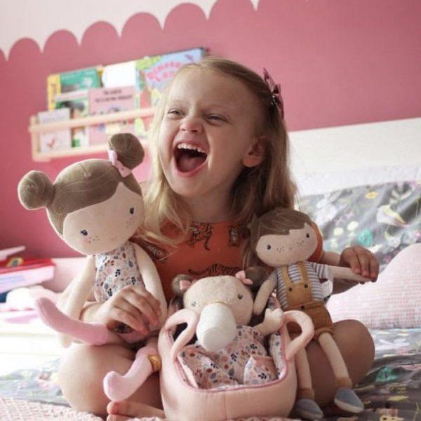 Veľká bábika Rosa v krabičke Little Dutch ružová 50 cm   Welcomebaby.sk