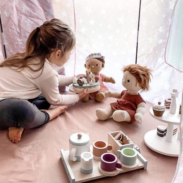 Drevená narodeninová torta Little Dutch pastelová   Welcomebaby.sk